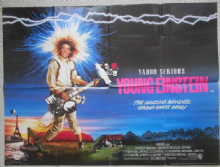 Young Einstein, Original UK Quad Poster, Yahoo Serious, '89